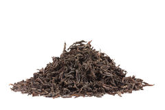 Black tea on white stock images