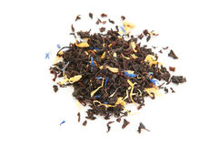 Black Tea With Dry Flowers Royalty Free Stock Photo