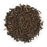 Black tea Yunnan Pu-Erh. Blend raw isolated on pure white Stock Photo