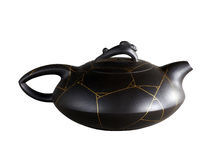 Black teapot Royalty Free Stock Photos