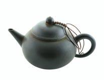 Black teapot. Isolated on white background Stock Photo