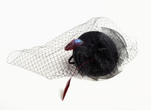 Black Teardrop Funeral Hat with Veil. Stock Photography