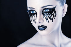 Black tears Stock Photography