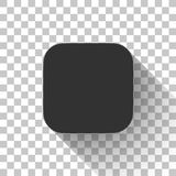 Black Technology App Icon Blank Template Royalty Free Stock Photography