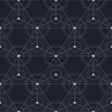Black technology seamless pattern. (eps 10 file stock illustration