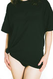 Black tee Royalty Free Stock Images