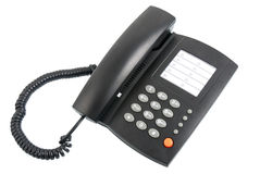 Black telephone Stock Image