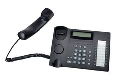 Black telephone Stock Photo
