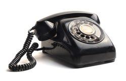 Black telephone Stock Photography