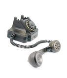Black telephone Stock Images