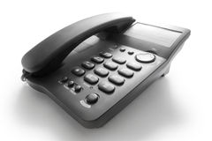 Black telephone Stock Photos