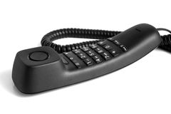 Black telephone handset Royalty Free Stock Images