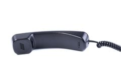 Black telephone handsets isolated Royalty Free Stock Image