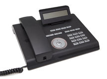 Black telephone. isolate on white background Royalty Free Stock Photography