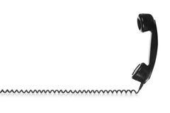 Black Telephone. Old Vintage Black Telephone isolated on white background Stock Photos
