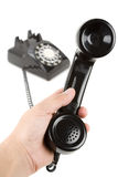 Black telephone Receiver Stock Photo