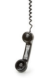 Black telephone Receiver. With white background Royalty Free Stock Photo