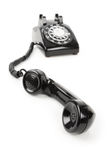 Black telephone Receiver Stock Photos
