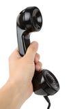 Black telephone Receiver Stock Photo