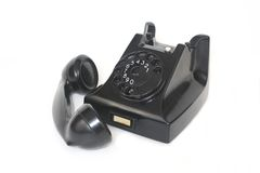 Black Telephone With Receiver Off Royalty Free Stock Photography
