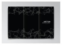 Black template of booklet with abstract elements Royalty Free Stock Image