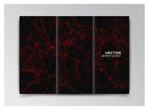 Black template of booklet with abstract red elements Stock Image