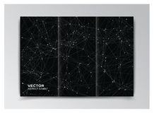 Black template of booklet with abstract white elements Royalty Free Stock Image