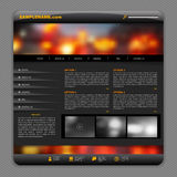Black template design with night city lights background Royalty Free Stock Photography