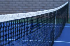 Tennis court net close up stock photography