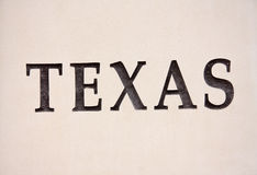 Texas sign on the wall Stock Photography