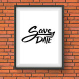 Black Text Design for Save the Date Concept Stock Photos