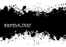 Black Text ink Royalty Free Stock Photography
