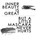 Black Text Quotation On White Background Inner Beauty Is Great