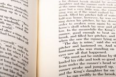 English words shown on two open book pages. royalty free stock image