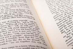 English words shown on two open book pages. royalty free stock photos