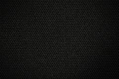Black Textural Surface Of Artificial Fabric Stock Photo