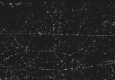 Black texture of scanned folded cracked and crumpled paper.  Stock Photo