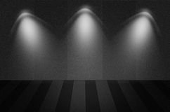 Black texture scene or background. With spotlight Royalty Free Stock Photos
