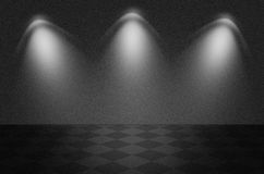 Black texture scene or background. With spotlight Stock Image