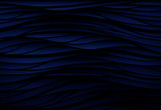 Black texture. Wavy background. Interior wall decoration. 3D  in. Black texture. Blue wavy background. Interior wall decoration. 3D  interior wall panel pattern Royalty Free Stock Image
