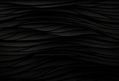 Black texture. Wavy background. Interior wall decoration. 3D  in Royalty Free Stock Photo