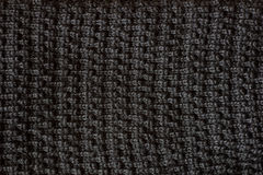 Black textured fabric background Royalty Free Stock Photos