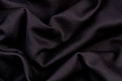 Black textured fabric stock photo Royalty Free Stock Photography