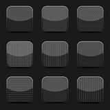 Black textured icon templates Royalty Free Stock Images