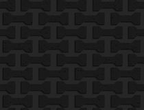 Black textured plastic bolts Stock Photo