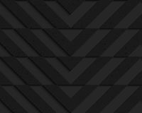 Black textured plastic chevron cut horizontally Stock Photos