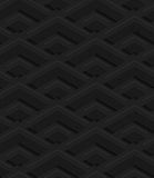 Black textured plastic corners in row. Seamless abstract geometrical pattern with 3d effect. Background with realistic shadows and layering stock illustration