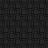 Black textured plastic crossing ovals Royalty Free Stock Image