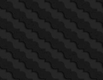 Black textured plastic diagonal pointy waves Stock Images