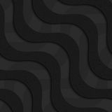 Black textured plastic diagonal waves layered Stock Image